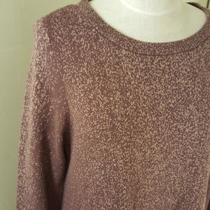 LOGO Lori Goldstein Mauve Speckled Sweater Dress